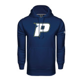 Under Armour Navy Performance Sweats Team Hoodie-P