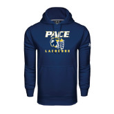 Under Armour Navy Performance Sweats Team Hoodie-Lacrosse Design