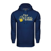 Under Armour Navy Performance Sweats Team Hood-Softball Design