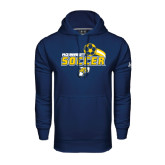 Under Armour Navy Performance Sweats Team Hood-Soccer Swoosh