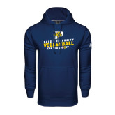 Under Armour Navy Performance Sweats Team Hood-Can You Dig It Volleyball