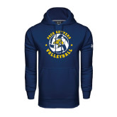 Under Armour Navy Performance Sweats Team Hoodie-Volleyball Star Design
