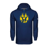 Under Armour Navy Performance Sweats Team Hood-Paw