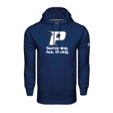 Under Armour Navy Performance Sweats Team Hoodie-Swimming & Diving