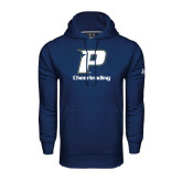 Under Armour Navy Performance Sweats Team Hood-Cheerleading