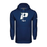 Under Armour Navy Performance Sweats Team Hood-Dad