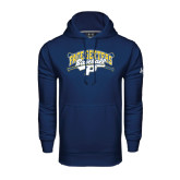 Under Armour Navy Performance Sweats Team Hoodie-Baseball Design