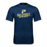 Performance Navy Tee-Can You Dig It Volleyball