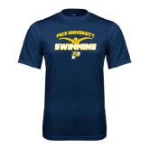 Performance Navy Tee-Swimming