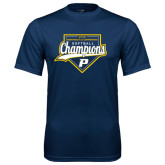 Performance Navy Tee-2016 Northeast 10 Conference Champions Softball