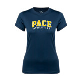 Ladies Syntrel Performance Navy Tee-Arched Pace Athletics