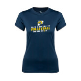 Ladies Syntrel Performance Navy Tee-Can You Dig It Volleyball