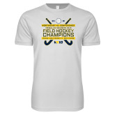 Next Level SoftStyle White T Shirt-2018 NE10 Field Hockey Champions