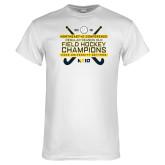 White T Shirt-2018 NE10 Field Hockey Champions