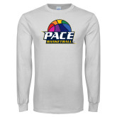 White Long Sleeve T Shirt-PACE Basketball Rainbow