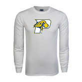 White Long Sleeve T Shirt-P w/T-Bone