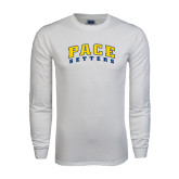 White Long Sleeve T Shirt-Arched Pace Setters