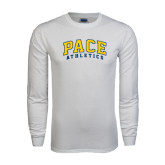 White Long Sleeve T Shirt-Arched Pace Athletics