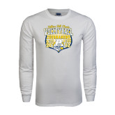White Long Sleeve T Shirt-Setters Fall Classic Volleyball Tournament