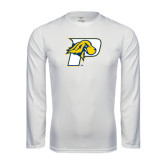 Performance White Longsleeve Shirt-P w/T-Bone