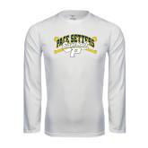 Performance White Longsleeve Shirt-Baseball Design