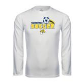 Performance White Longsleeve Shirt-Soccer Swoosh
