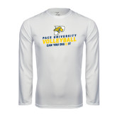 Performance White Longsleeve Shirt-Can You Dig It Volleyball