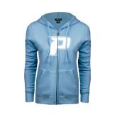 ENZA Ladies Light Blue Fleece Full Zip Hoodie-P