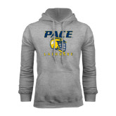 Grey Fleece Hoodie-Lacrosse Design