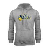 Grey Fleece Hood-Softball Design