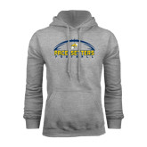 Grey Fleece Hood-Arched Football Design