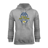 Grey Fleece Hoodie-Tall Football Design