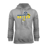 Grey Fleece Hood-Soccer Swoosh