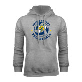 Grey Fleece Hood-Volleyball Star Design