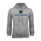 Grey Fleece Hoodie-Cross Country