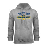 Grey Fleece Hoodie-Swimming