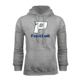 Grey Fleece Hood-Football
