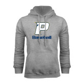Grey Fleece Hood-Baseball