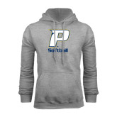 Grey Fleece Hood-Softball