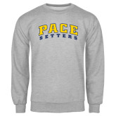 Grey Fleece Crew-Arched Pace Setters