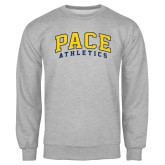 Grey Fleece Crew-Arched Pace Athletics