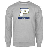 Grey Fleece Crew-Baseball