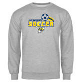 Grey Fleece Crew-Soccer Swoosh