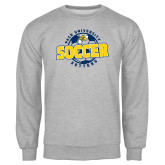 Grey Fleece Crew-Soccer Circle Design