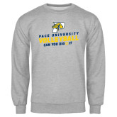 Grey Fleece Crew-Can You Dig It Volleyball