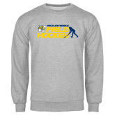 Grey Fleece Crew-Field Hockey Design