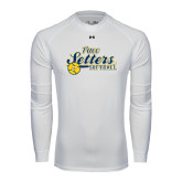 Under Armour White Long Sleeve Tech Tee-Softball Design