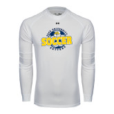 Under Armour White Long Sleeve Tech Tee-Soccer Circle Design