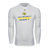 Under Armour White Long Sleeve Tech Tee-Can You Dig It Volleyball