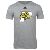 Adidas Sport Grey Logo T Shirt-P w/T-Bone